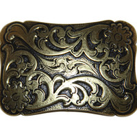 Cimarron Belt Buckle - Antique Brass