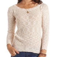 Marled High-Low Tunic Sweater by Charlotte Russe