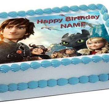 How To Train Your Dragon 2 Edible Birthday Cake Topper OR Cupcake Topper, Decor