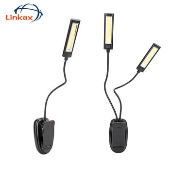 Book Light Lamp White Color Booklight Led Ebook Light Mini Flexible Clip-on Book Reader Reading Lamp Convenient