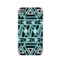 Bold Tribal Turquoise iPhone Case from Zazzle.com