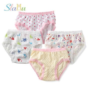 12-Pack Organic Cotton Children Underwear High Quality Kids Girls Briefs Shorts Panties for Baby Clothes Underpants 2-8 y