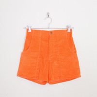 Ocean Pacific Short Op Short Corduroy Short High Waist Short Orange Short Surf Short Surfer 70s 80s 90s Short Women 28 S Small M Medium