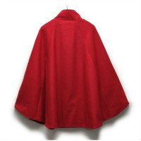 fashion lady red cape coat