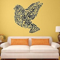 Wall Stickers Bird Pattern Beautiful Tribal Room Decor Vinyl Decal Unique Gift (ig1946)