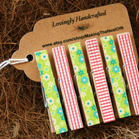 Clothespin Set - Wood Clothes Pin set of 6