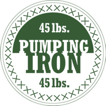 Pumping Iron (Green) Plastisol Heat Transfer