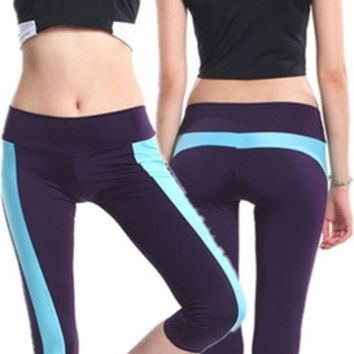 Hot Women's Running Capri Tights YOGA Pants Sports Leggings Slim = 1933362180