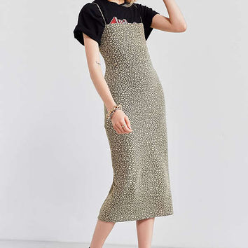 Silence + Noise Straight-Neck Midi Dress   Urban Outfitters