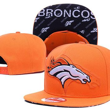 Men's Denver Broncos New Era Orange  Side 9FIFTY Adjustable Snapback Hat
