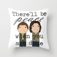 Supernatural Peace Throw Pillow by Mimi & Boo | Society6