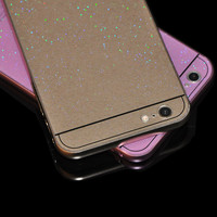 Metal Frame Bumper 2 in 1 Sparkle Phone Case For Iphone 5 5S 6 6S 6 Plus 6S Plus