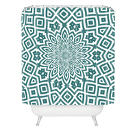Lisa Argyropoulos Helena Teal Shower Curtain