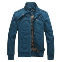New Fashion Men Jacket Wind Proof Top Quality Overcoat 4 Solid Colors Asian Size M-XXXL Jacket