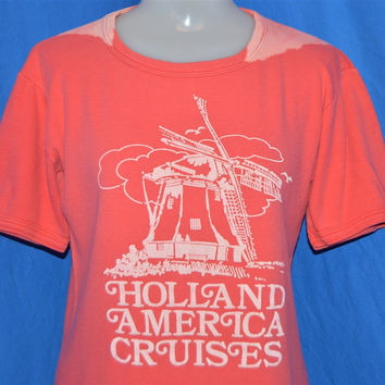 80s Holland America Cruises Line Windmill t-shirt Womens Small