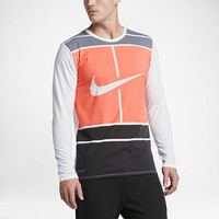 The NikeCourt Practice Men's Tennis Long Sleeve Top.