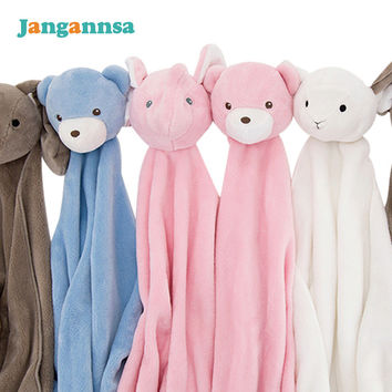 Newborn Baby Blanket Soft Comfortable Baby Blanket Cute Rabbit Sheep Style Swaading Spring Summer Boy Girl Blanket  Baby Bedding