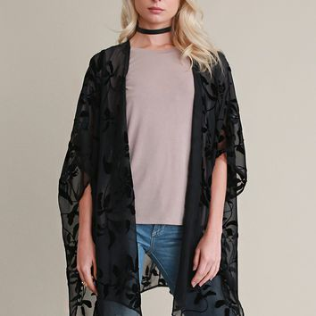 Settle Down Burnout Kimono | Threadsence
