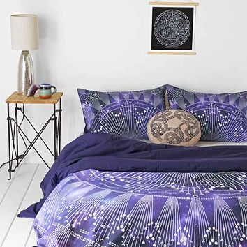 Magical Thinking Cosmic Medallion Duvet Cover - Purple Full/queen