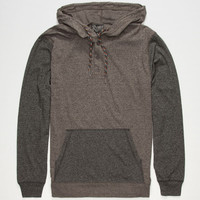 Retrofit Sierra Mens Lightweight Henley Hoodie Charcoal  In Sizes