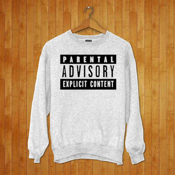 Parental Advisory Crewneck Sweatshirt Brand NEW UNISEX