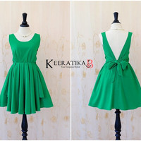 Party V Backless Dress Grass Green Dress Green Bridesmaid Dress Green Prom Dress Backless Cocktail Dress Homecoming Dress Night Dress XS-XL