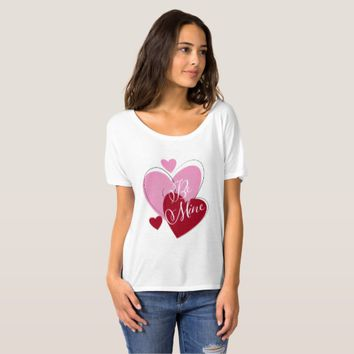 Valentine's Day Hearts Boyfriend T-Shirt