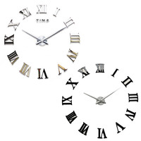 Modern DIY 3D Large Wall Art Gear Clock Antique Vintage Calendar Wheel Home Decor Wall clock