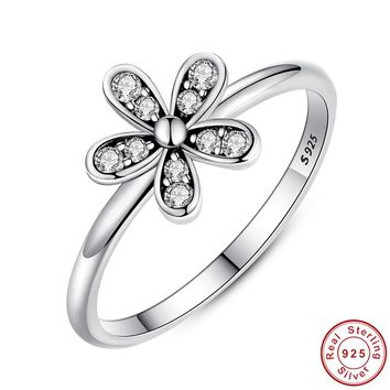 100% Authentic  925 Sterling Silver  Ring  European Style CZ Charm  Rings for Women Fashion Jewelry