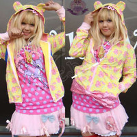 FRUiTs HARAJUKU DECORA CARE BEAR Hoody 4-ARM Jacket 2PC