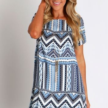 Day By Day Printed Shift Dress
