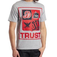 Rogue Status Men's Trust Block Tee, Athletic Heather/Red, XX-Large