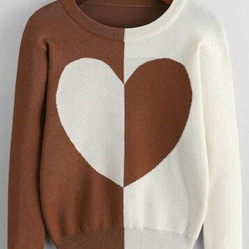 Break hearts block sweater