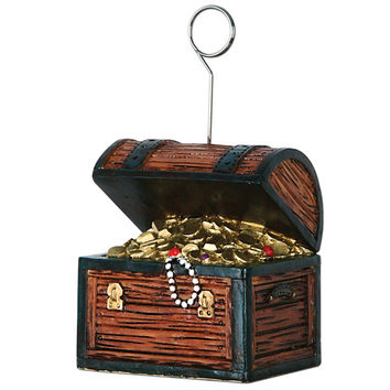 pirate treasure chest photo/balloon holder 6 pack Case of 6