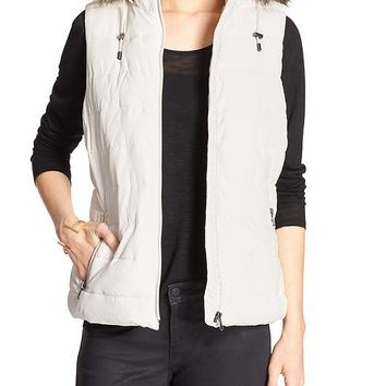 Banana Republic Womens Factory Hooded Puffer Vest