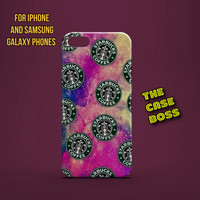 MY STARBUCKS GALAXY Design Custom Phone Case for iPhone 6 6 Plus iPhone 5 5s 5c iphone 4 4s Samsung Galaxy S3 S4 S5 Note3 Note4 Fast!
