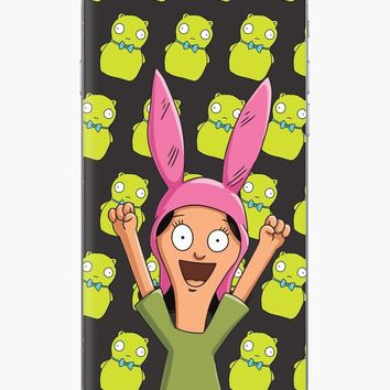 'Louise Belcher Light Pattern Black' iPhone Case by Lucy Lier