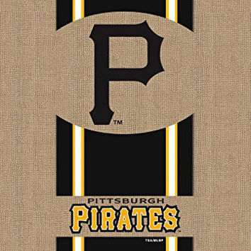 Evergreen Burlap Pittsburgh Pirates Garden Flag, 12.5 by 18 inches