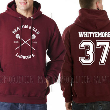 Whittemore 37 CROSS Beacon Hills Lacrosse Teen Wolf Unisex Hoodie S to 3XL