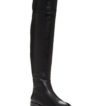 Joie Women's Black Leather Over The Knee Boots