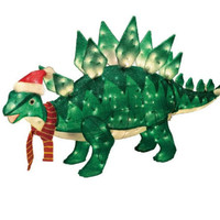 60in Animated Lighted Christmas Stegosaurus- Trim a Home-Seasonal-Christmas-Outdoor Decorations & Figures