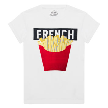 FRIES Emoji Graphic T-Shirt