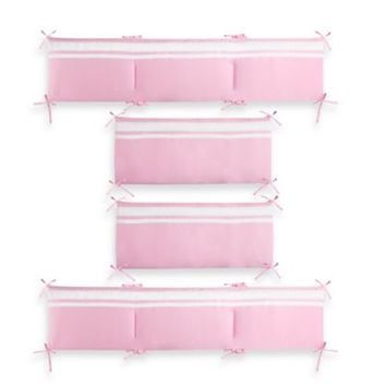 CoCaLo Audrey Bumper in Solid Pink