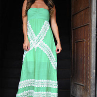 JUDITH MARCH: Picnic Maxi Dress: Green | Hope's