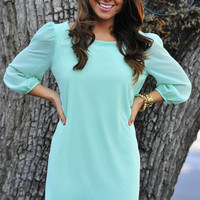 RESTOCK Blow Me Away Dress: Blue | Hope's