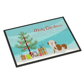 Havanese Christmas Tree Indoor or Outdoor Mat 18x27 CK3458MAT