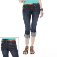 SO Roll-Cuff Denim Capris - Juniors