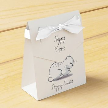 Cute Bunny -add text favor box