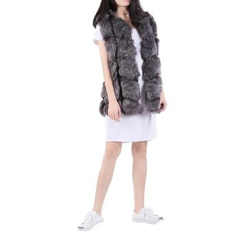 Autumn Winter Fashion Vests Mex Faux Fox fur Vest Imports Imitation Lady Coat Outerwear Soft Women Jacket 4 Colors NX8