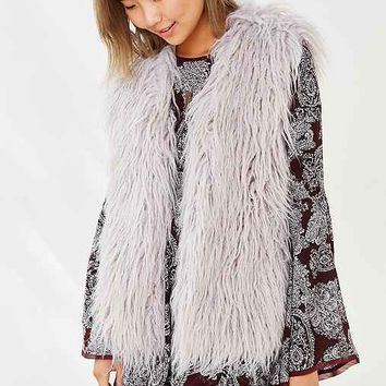 MINKPINK Endless Shaggy Faux Fur Vest